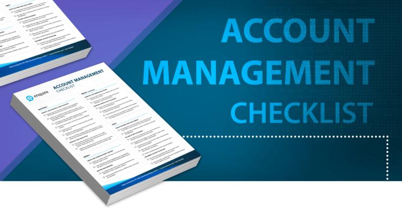 Account Management Checklist