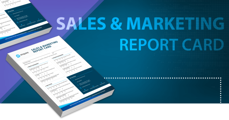 Sales and Marketing Report Card