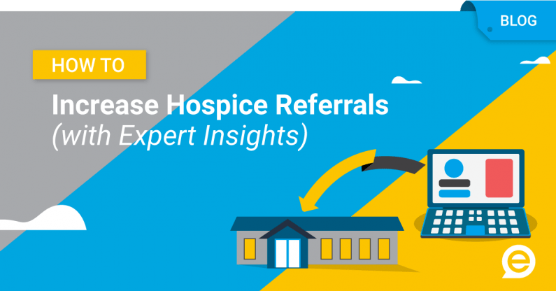 How to Increase Hospice Referrals (with Expert Insights) image with laptop sending referrals to hospice facility